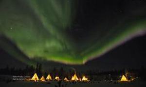 实拍唯美的北极光