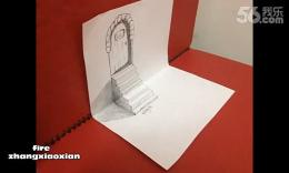 fire 张晓限:3d立体画2正方体,楼梯过程教学图片