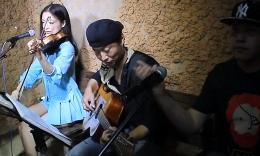 性感美女小提琴 吉他弹唱《你的样子图片
